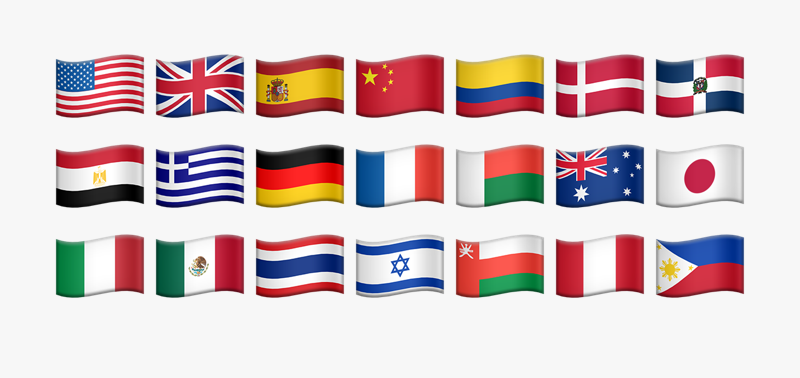 Flags from different countries around the world.