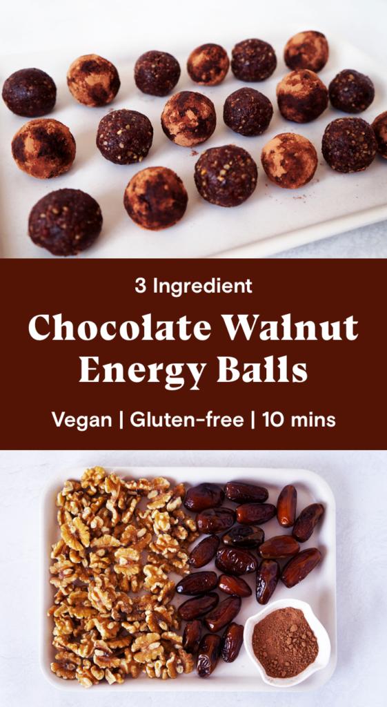 Chocolate Walnut Energy Balls