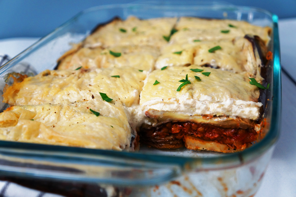 Vegan Moussaka With Creamy Bechamel Daughter Of Seitan