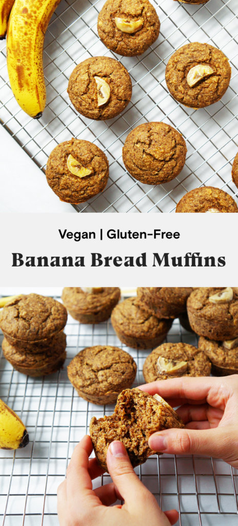 Healthy Vegan Banana Bread Muffins