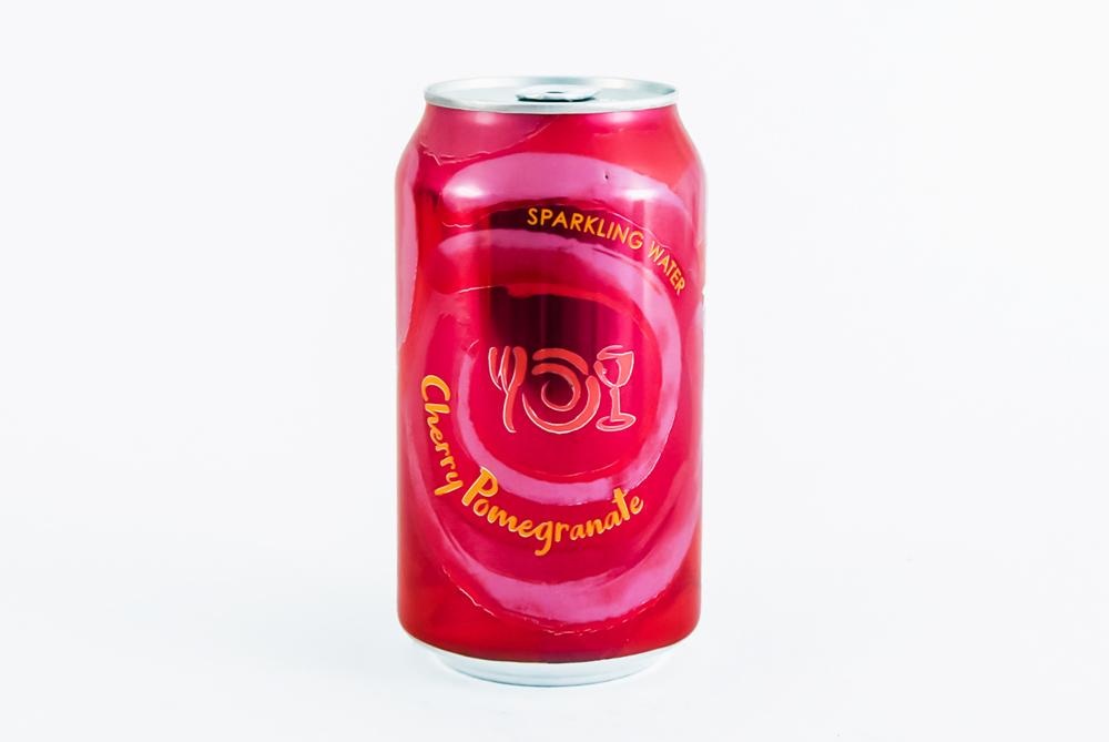 Can of Wegmans Sparkling Water flavor Chery Pomegranate