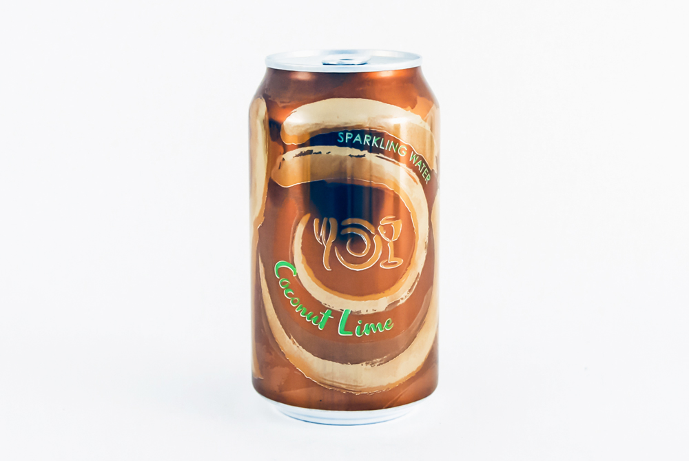 Can of Wegmans Sparkling Water flavor Coconut Lime