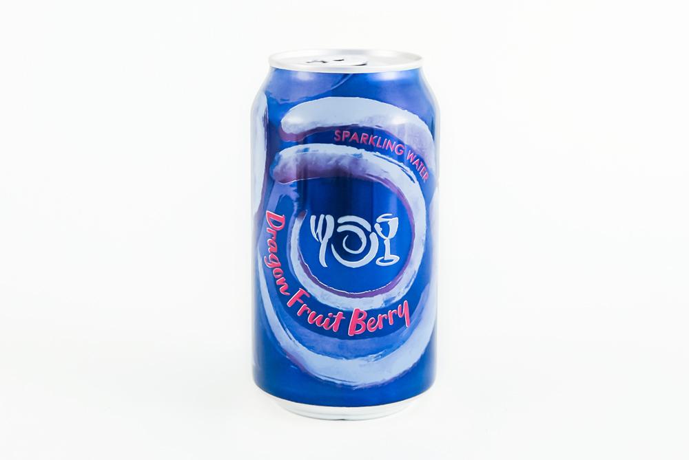 Can of Wegmans Sparkling Water flavor Dragon Fruit Berry.