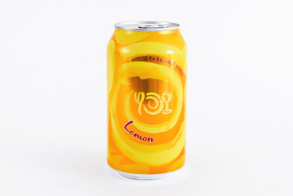 Can of Wegmans Sparkling Water flavor Lemon