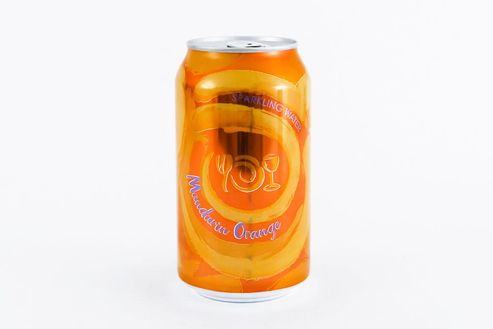 Can of Wegmans Sparkling Water flavor Mandarin Orange