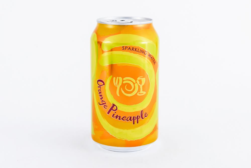 Can of Wegmans Sparkling Water flavor Orange Pineapple
