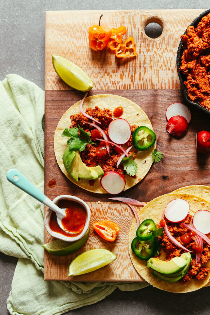 10 Minute Raw Vegan Taco Meat from Minimalist Baker