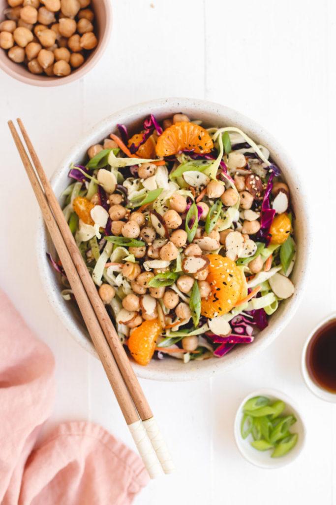 Chinese Chickpea Salad from Veggiekins