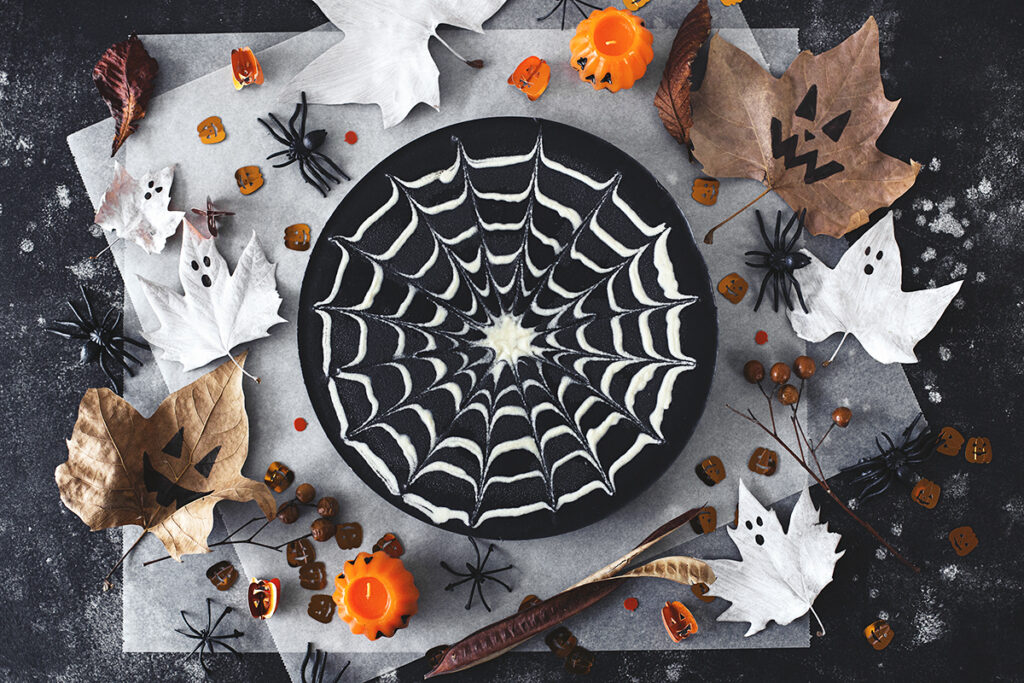 Double Chocolate Halloween Cheese Cake from Cocoon Cooks