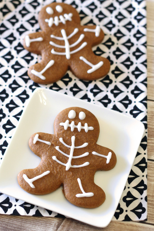 Gingerbread Skeleton Cookies (Gluten-Free) by Sarah Baked Gluten Free