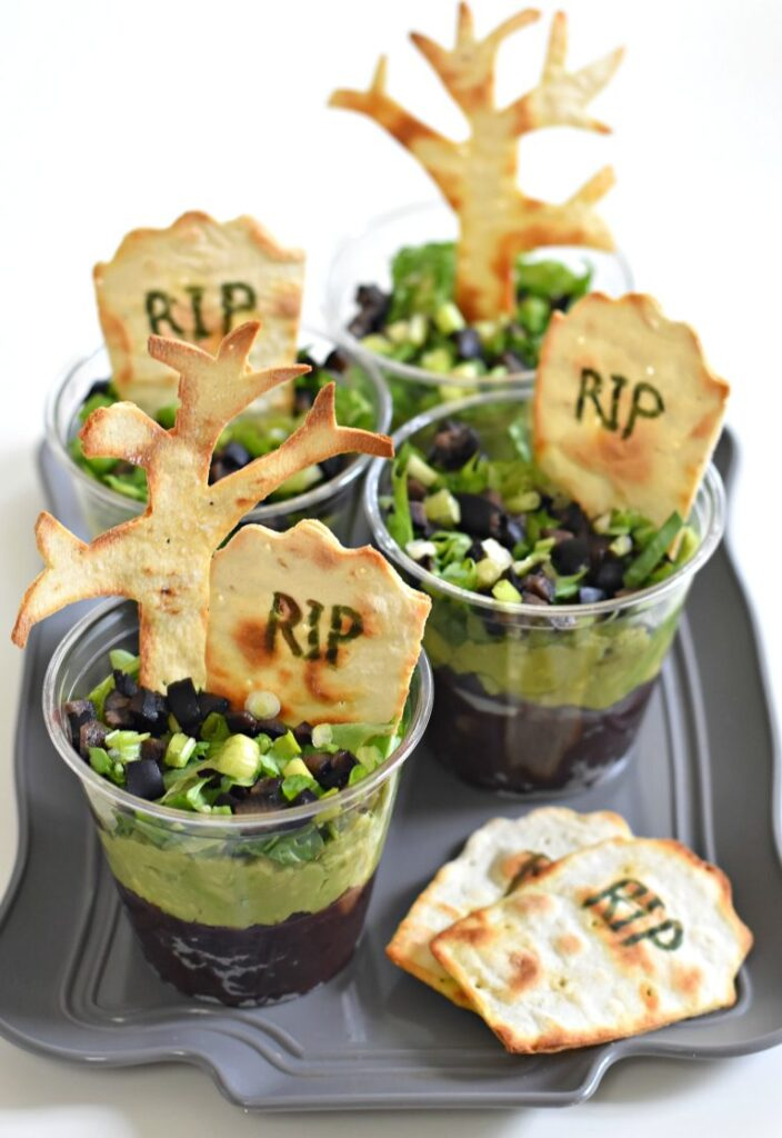 Graveyard Taco Cups from Fork and Beans