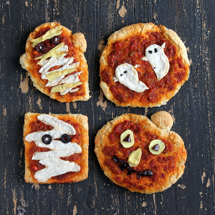 Halloween Pizzas by Vegan Richa