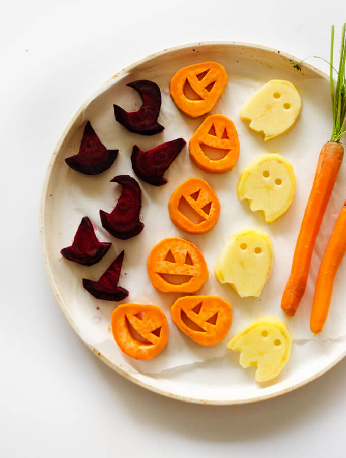 Halloween Roasted Veggies from Live Eat Learn