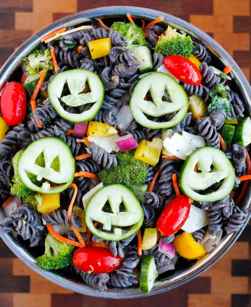 Healthy Halloween Pasta Salad from Smile Sandwich