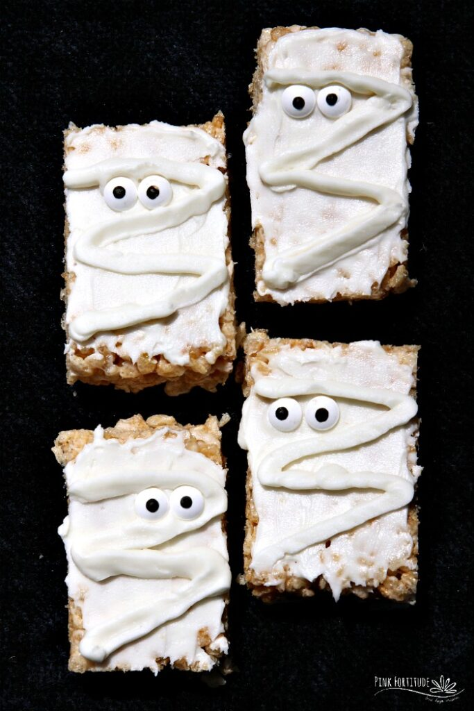 Mummy Rice Krispies Treats (Gluten-Free) from Pink Fortitude