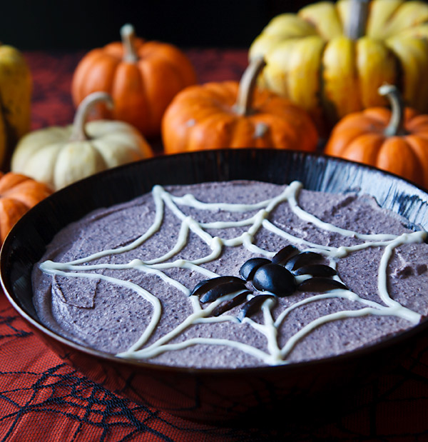 Spooky Black Bean Hummus from Fat Free Vegan