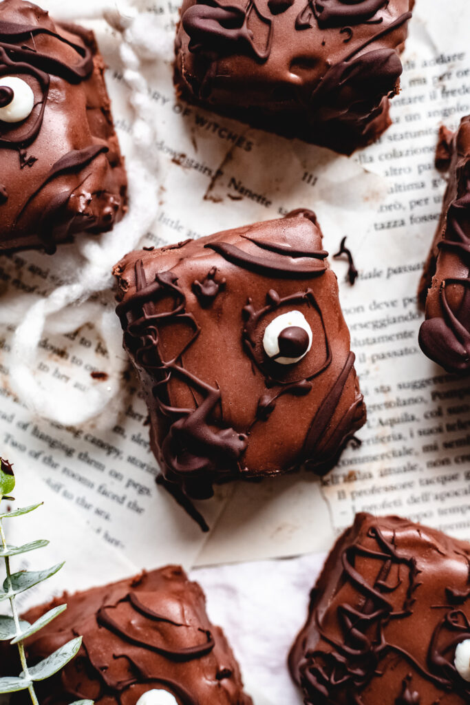 Vegan Hocus Pocus Spellbook Brownies from The Banana Diaries
