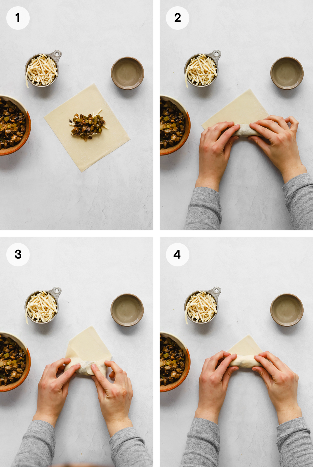 How to fold egg rolls