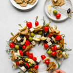 Vegan charcuterie Christmas wreath