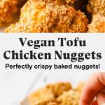 Baked vegan tofu chicken nugget recipe