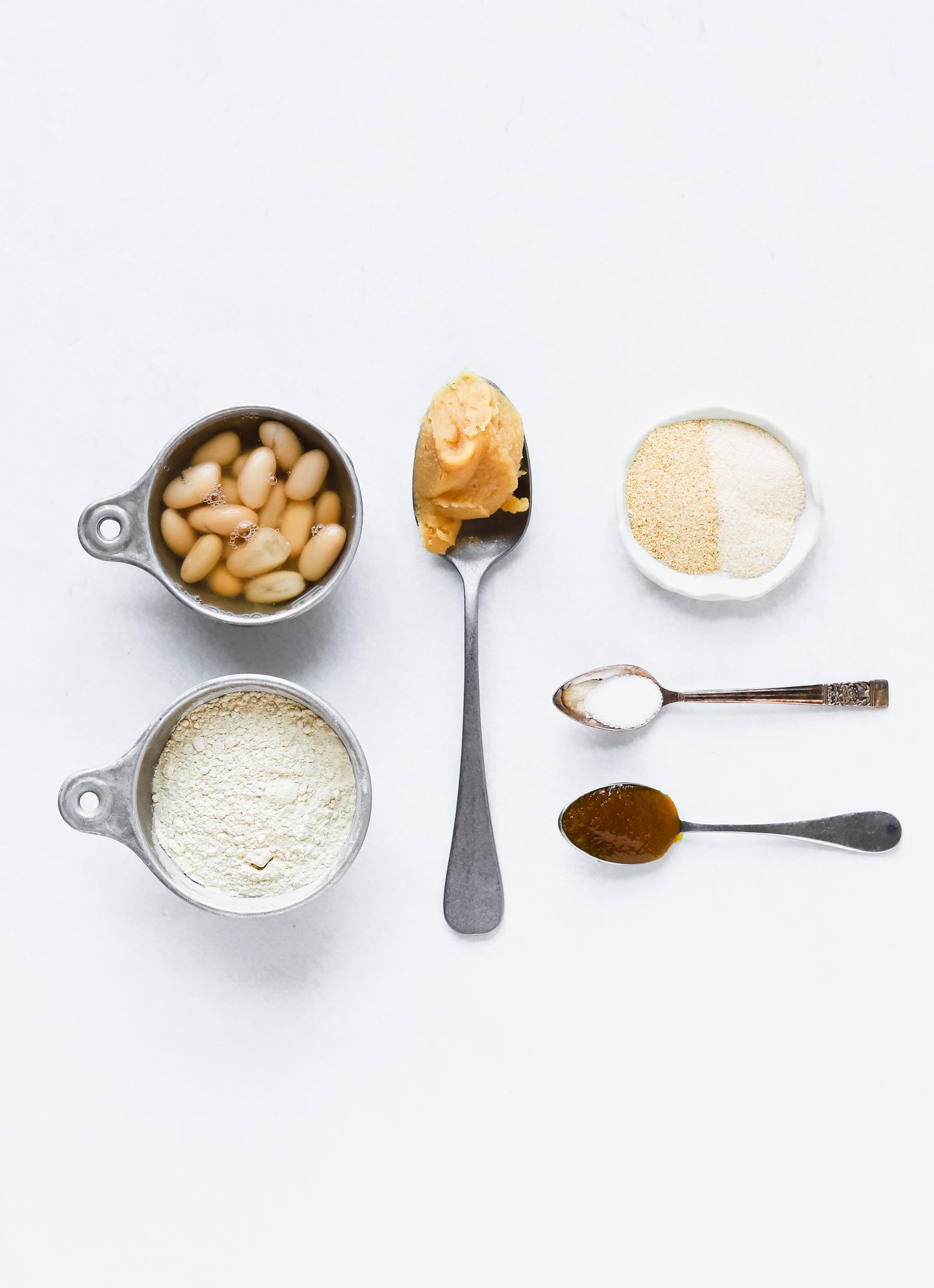 Ingredients for making vegan seitan chicken